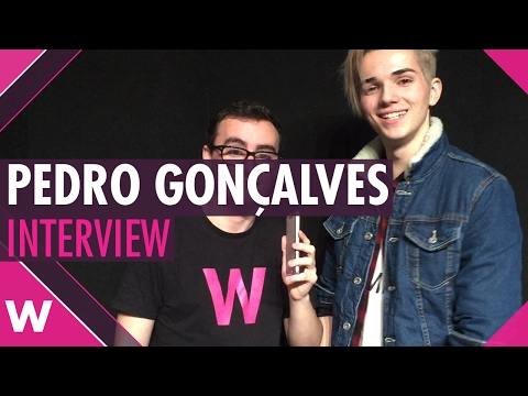 "Pedro Gonçalves ""Don't Walk Away"" - Festival da Canção 2017 (INTERVIEW)"
