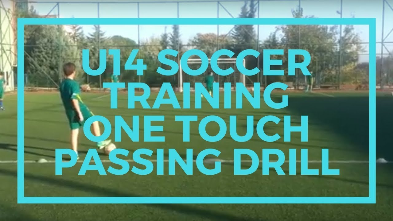 U14 Soccer Training Drills One Touch Passing Combination with Shooting  Soccer Drill
