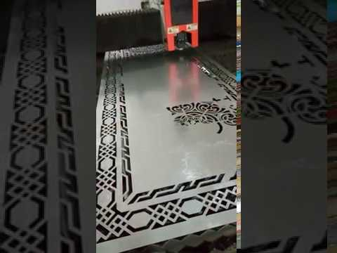 Fiber laser cutting machine , laser cutting test on stainless steel plate,  nice design doors, window