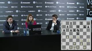 Round 12. Press conference with Grischuk and Aronian