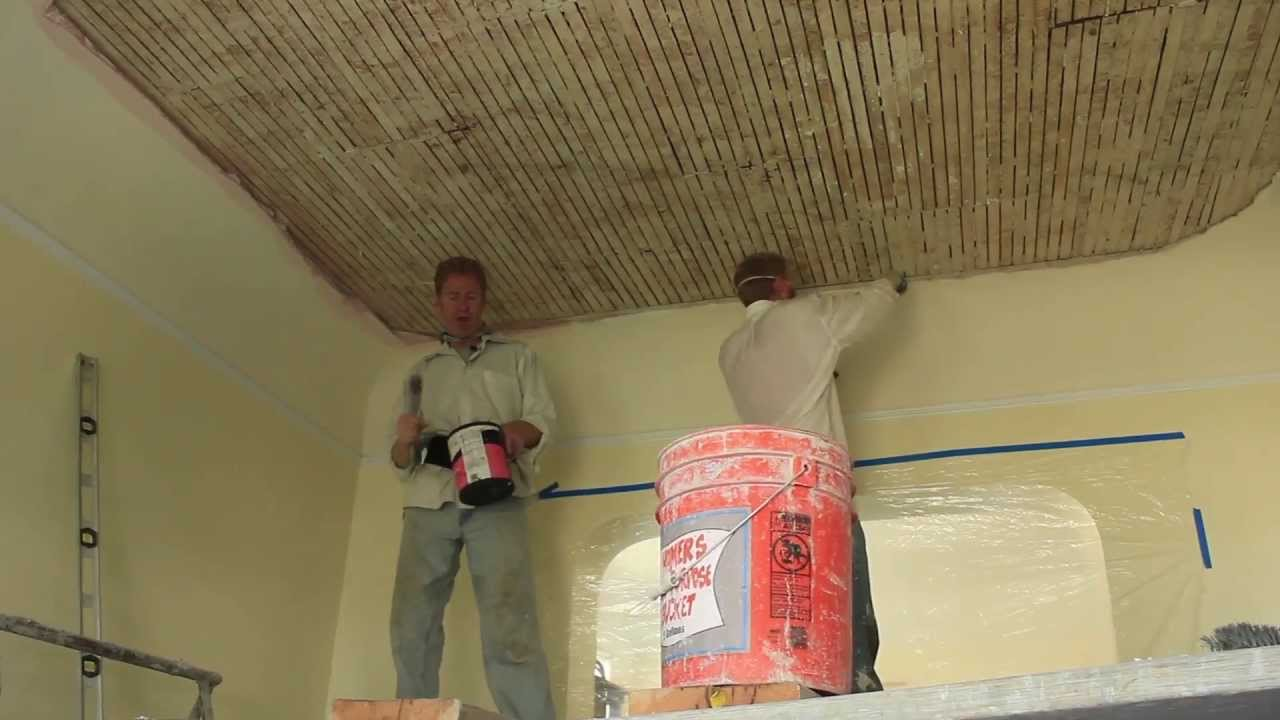 Remove Strengthen Interior Ceiling Re Apply The Plaster