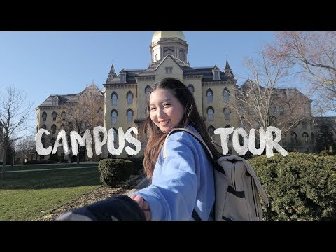 College Campus Tour: University of Notre Dame 대학교 캠퍼스 투어