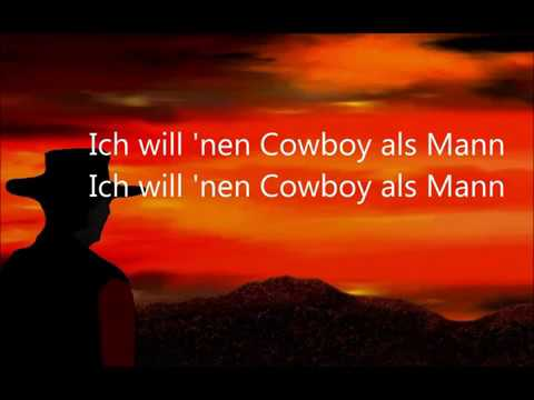 Ich will nen Cowboy als Mann  Gitte Haenning  Karaoke Cover