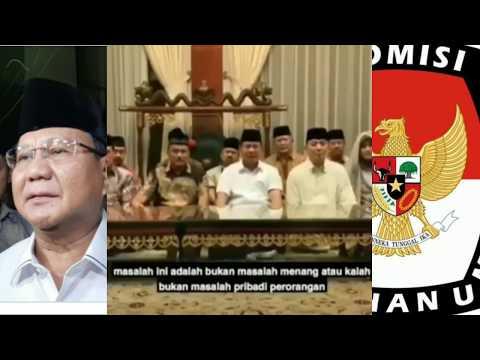 Prabowo Menolak Hasil Keputusan KPU | Wonderdir Pilpres