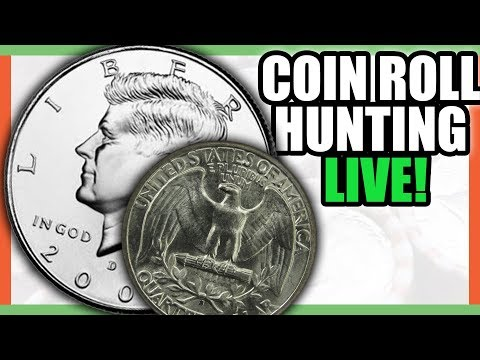 COIN ROLL HUNTING HALF DOLLARS AND QUARTERS - SILVER COINS FOUND??