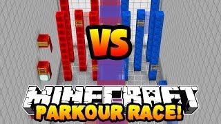 Minecraft RED VS BLUE PARKOUR RACE! w/PrestonPlayz & Kenny
