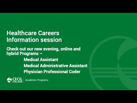 Cecil College Healthcare Online Info Session May 2020
