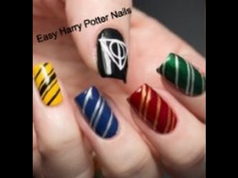 Easy Harry Potter Nail Art