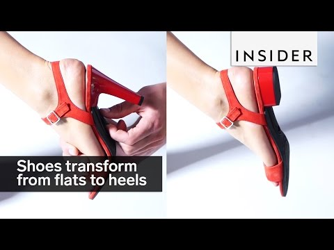 These Shoes Transform From Flats To Heels In Seconds