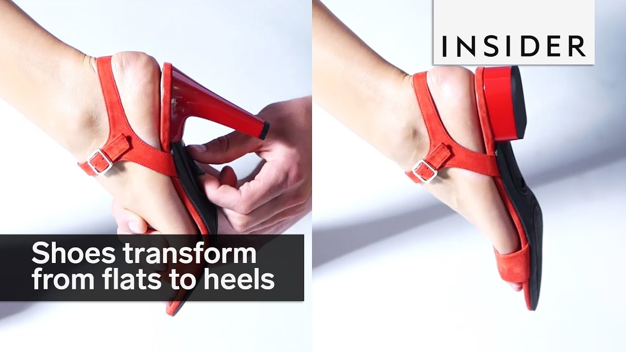 6715fc3f77a These shoes transform from flats to heels in seconds