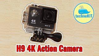 H9 4K экшн камера с WiFi Распаковка и краткий обзор  (пришла с прошивкой iCam H9 160801LY)