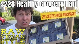 $228 Healthy Grocery Haul - Raw Vegan Style for a month