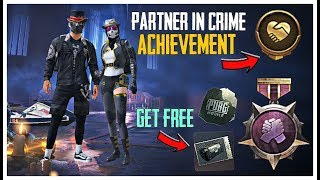HOW TO COMPLETE PARTNER IN CRIME ACHIEVEMENT IN PUBG MOBILE ?? GET PARTNER'S EXCLUSIVE TITLE