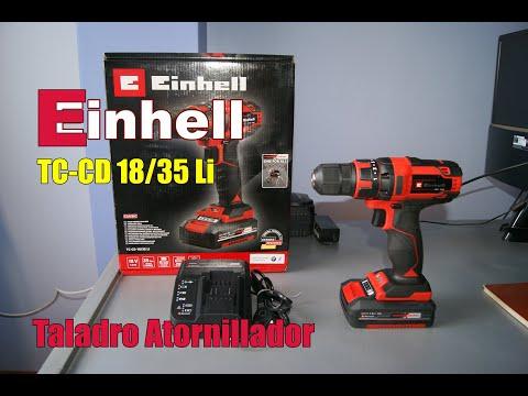 EINHELL Taladro Atornillador TC-CD 18 35 Li 18v PRUEBAS