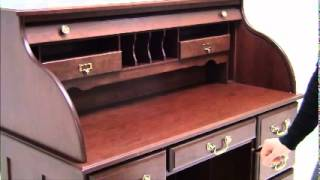 Solid Cherry Roll Top Desk