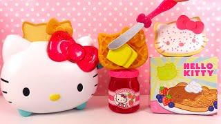 Aujourd'hui, nous allons jouer avec le grille-pain de Hello Kitty Toaster. Nous allons griller du pain, un pop tart et une gauffre. Nous finirons par un toast Hello ...
