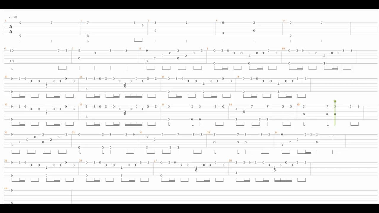 Anime guitar tabs Fairy Tail - YouTube