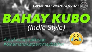 Bahay Kubo Indie Style Female Key instrumental guitar karaoke cover with lyrics