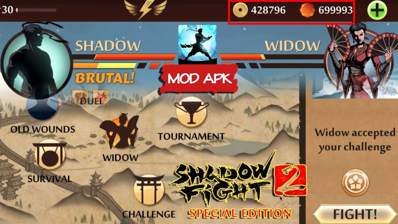 SHADOW vs BLACK WIDOW | Shadow Fight 2 Special Edition Mod Android Gameplay