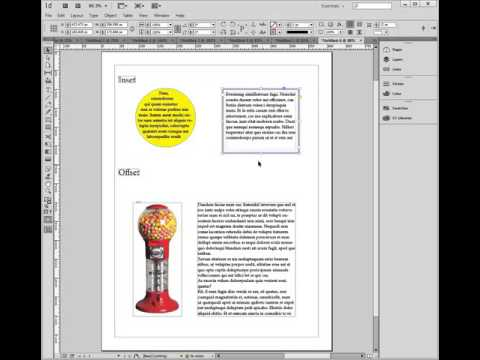 InDesign: Explaining insets and offsets (wrapped text)