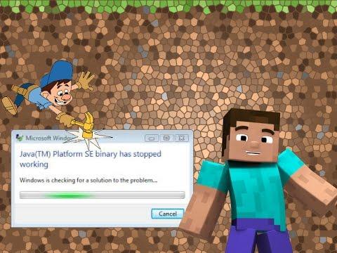 How to Fix Minecraft Error JAVA PLATFORM SE binary has stopped