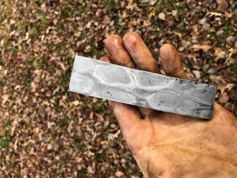 Forging motorcycle chain Damascus by hand