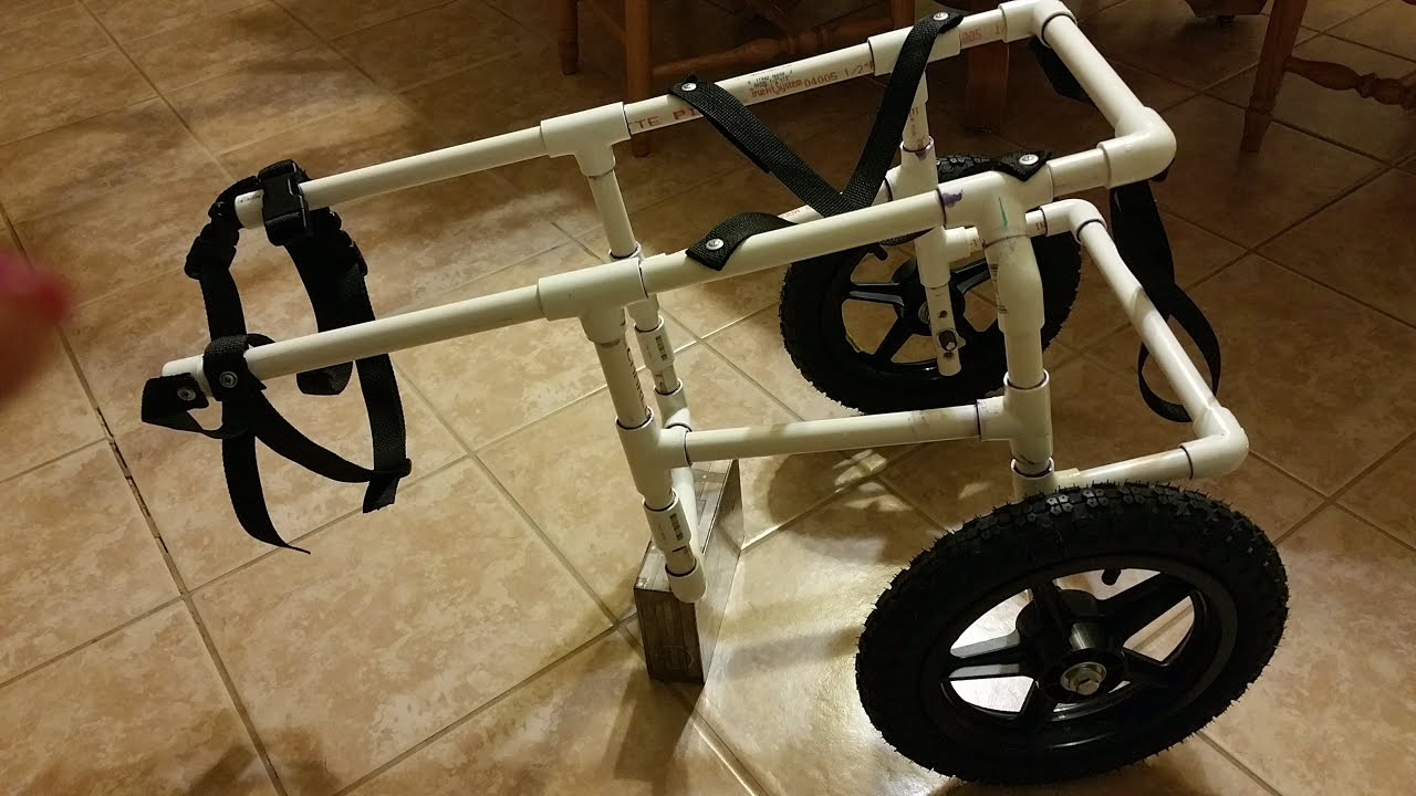 How To Build Your Own Doggie Wheelchair Part 1 Youtube