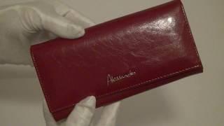 Обзор женского кожаного кошелька ALESSANDRO PAOLI W501 red