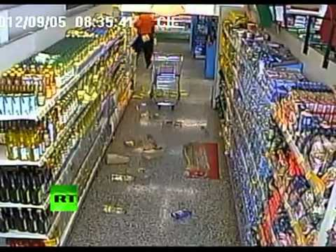 SHOCKING CCTV FOOTAGE: Inside a Costa Rican shop during the MASSIVE EARTHQUAKE