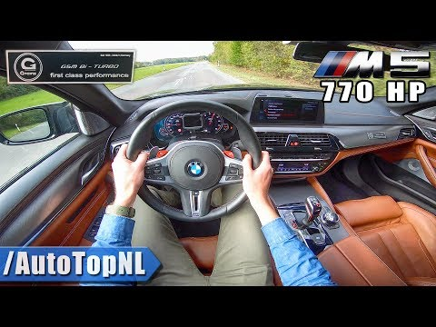BMW M5 F90 G POWER 770HP FAST & LOUD! POV Test Drive By AutoTopNL