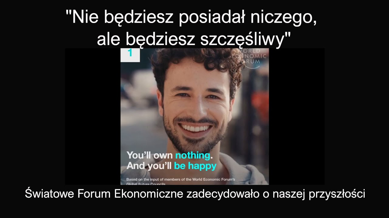 """Światowe Forum Ekonomiczne """"Nie będziesz posiadał niczego, ale będziesz  szczęśliwy"""" przyszłość 2030 - YouTube"""