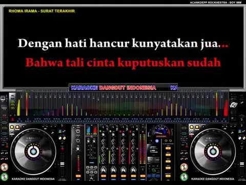 Rhoma Irama - Surat Terakhir (Karaoke Dangdut Indonesia)