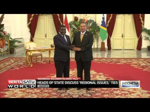 Indonesian President SBY Meets With Solomon Islands PM