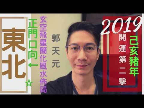 【風水】風水2019十二生肖簡化佈局 豬年⭐️ ⎮ 正門向►東北