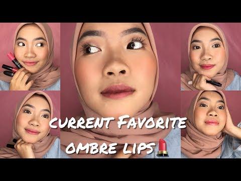 tutorial-favorite-ombre-lips-[part-2]-|-current-favorite-ombre-lips-untuk-bibir-gelap!