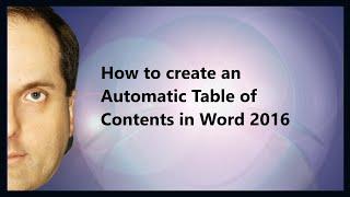 So erstellen Sie ein Automatisches Inhaltsverzeichnis in Word 2016