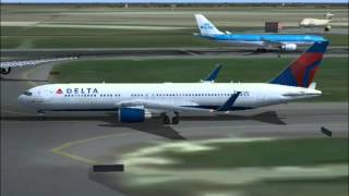 Delta Flight 57 AMS - SLC (Full Flight (FS2004)