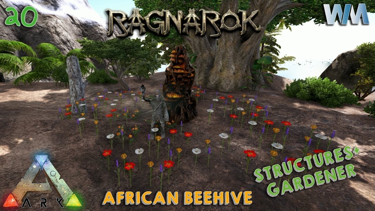 Ark ragnarok ep20 african beehive and structures plus for Plante y ark ragnarok