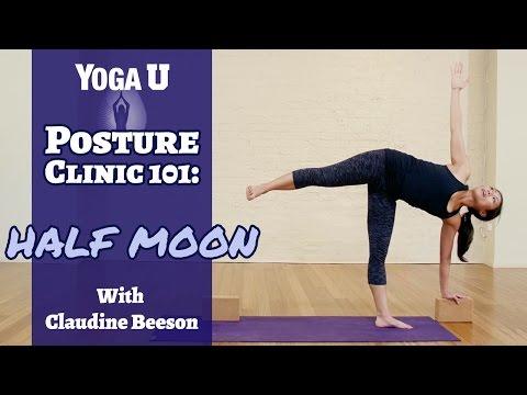 Yoga Poses: Half Moon   Claudine Beeson   YogaUOnline