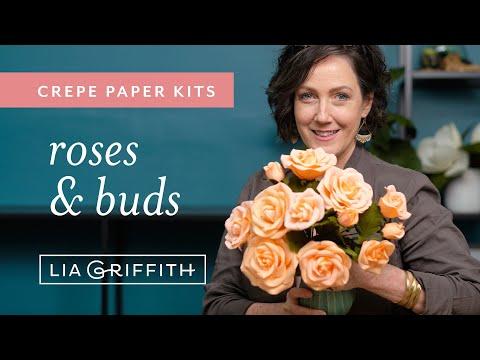 Crepe Paper Rose Flower Kit (full tutorial)
