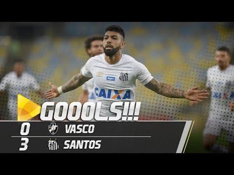 Vasco 0 x 3 Santos | GOLS | Brasileirão (01/09/18)