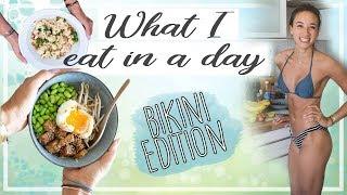 WHAT I EAT IN A DAY - Bikini Edition - 1800 gesunde Kalorien & SATT!