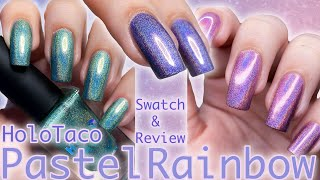 Pastel Rainbow Linear Collection || HOLOTACO Swatch&Review