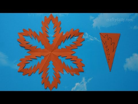 Paper Snowflake #04   How To Make A Paper Snowflakes Step By Step Tutorial