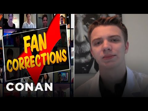Fan Correction: There Aren't Two Oxygen Molecules In Water!  - CONAN on TBS