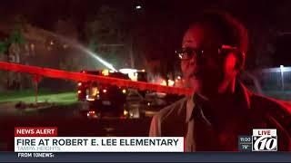 Teacher stunned by Lee School fire