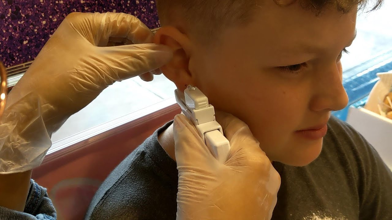 Kids Getting Their Ears Pierced Brother And Sister Youtube