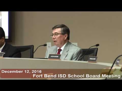 December 12, 2016 FBISD School Board Meeting Part 3