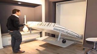 Armoire Lit Escamotable Ulysse Desk - Bimodal Par La Maison Du Convertible