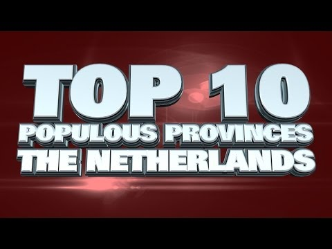 Top 10 Most Populous Provinces in the Netherlands 2014